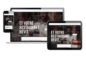 site web foodmarketing sur tablette ordinateur et mobile