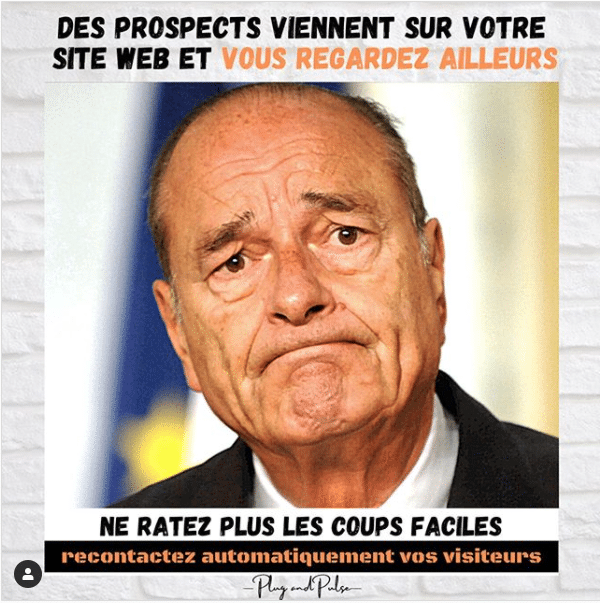Instagram image Chirac marketing automation le_truc_digital