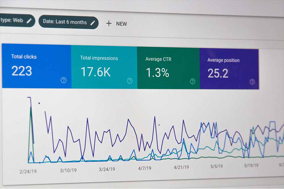 Tableau de bord Google Analytics affichant des chiffres Plug and Pulse