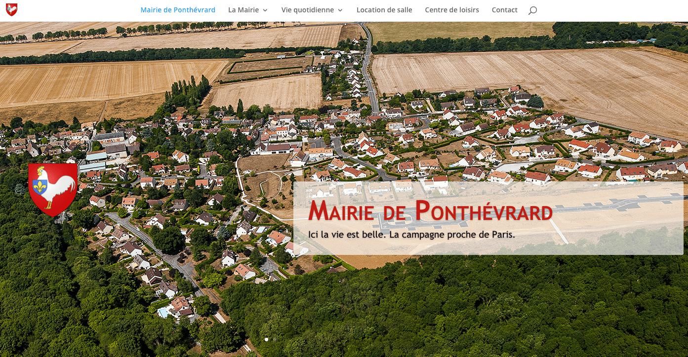 capture d'écran site web Ponthévrard par plug and Pulse