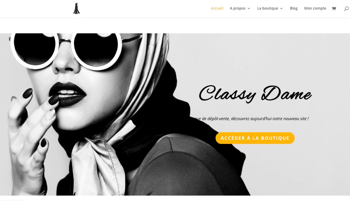 capture d'écran site web classy dame par plug and Pulse
