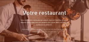 Site métier - restaurant 1